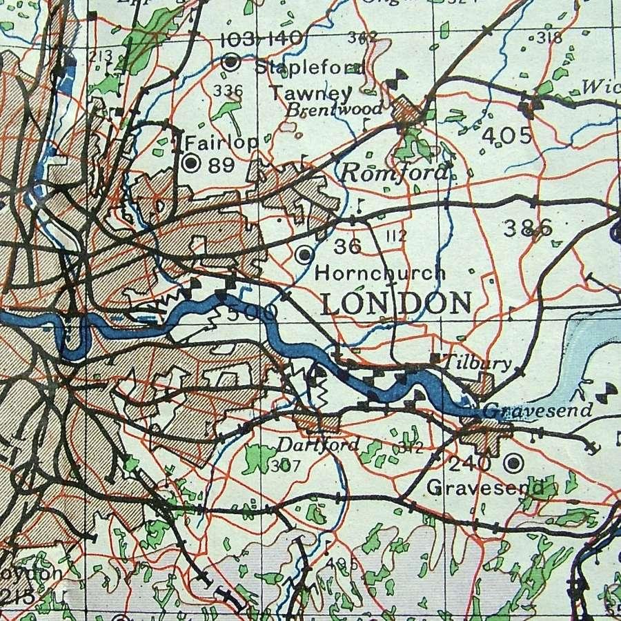 WW2 RAF Flight Maps - UK