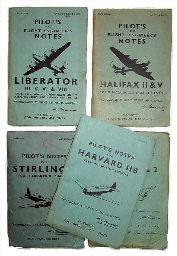 WW2 RAF Aircraft Pilot's Notes