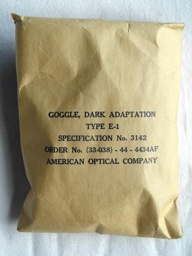 USAAF goggles, dark adaptation, E-1