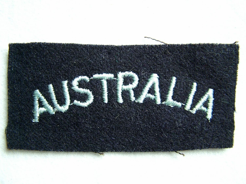 RAF 'Australia' Nationality Title