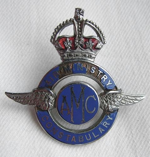 Air Ministry Constabulary Cap Badge