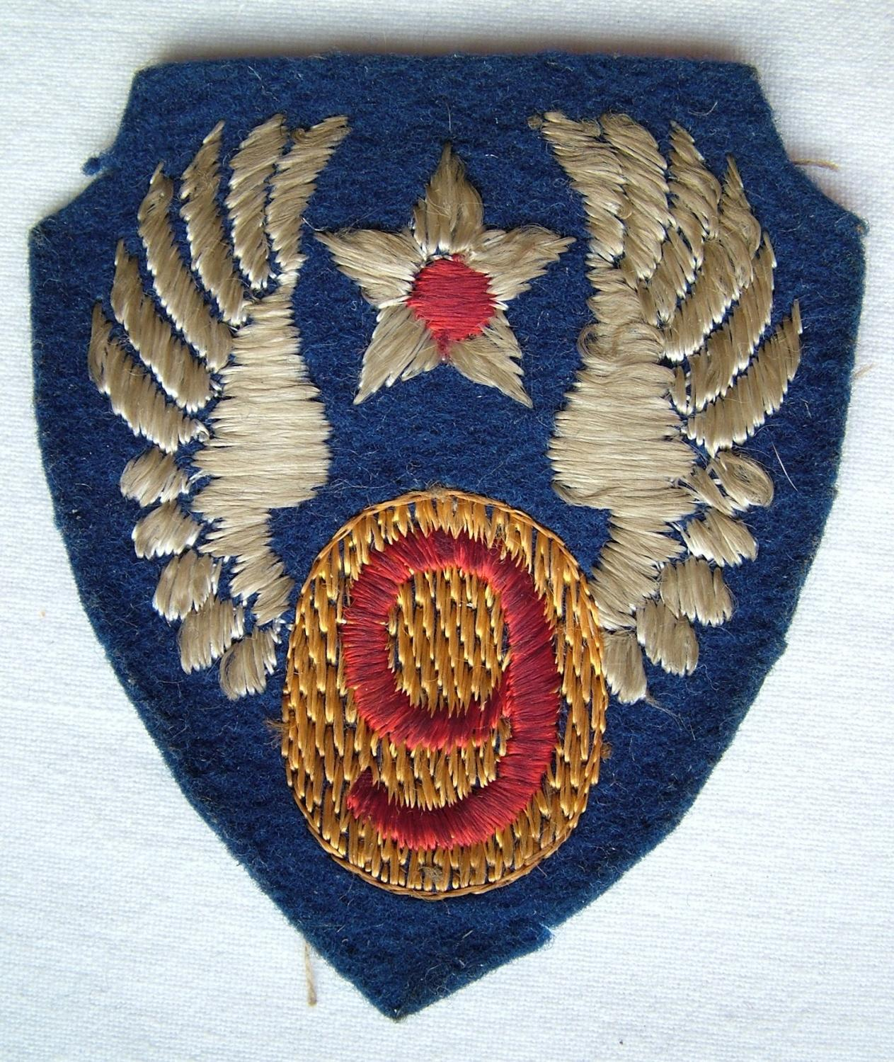 USAAF 9th AAF Shoulder Patch - English Made