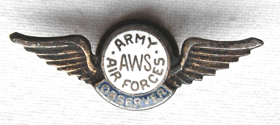 US Aircraft Warning Service Badge