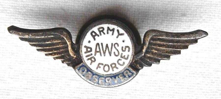 US Aircraft Warning Service Badge