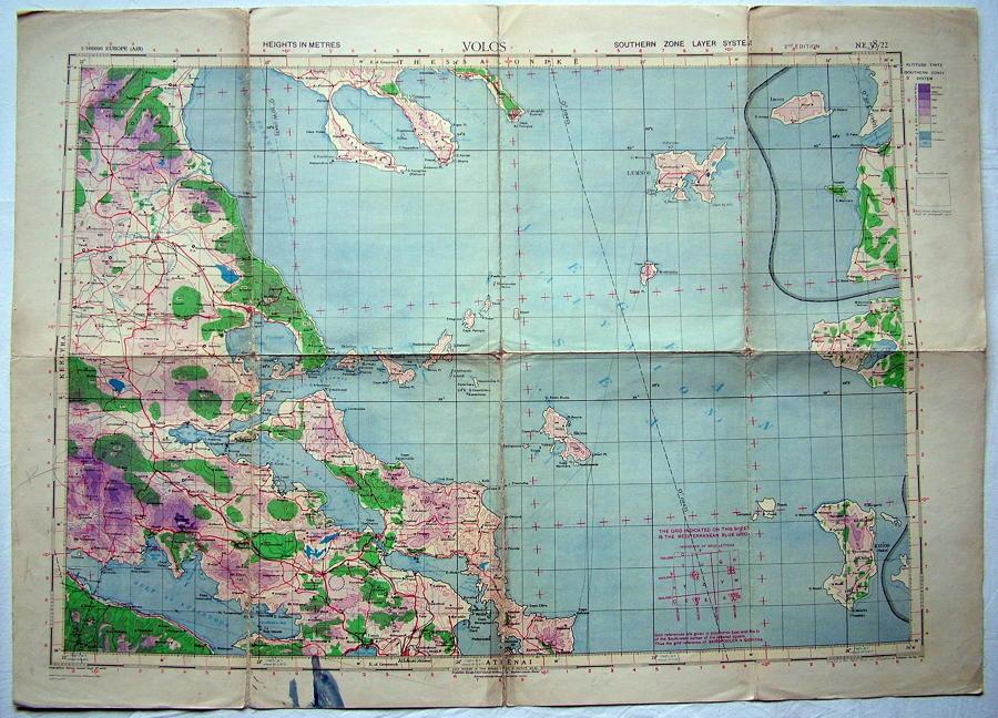 RAF Flight Map - Volos