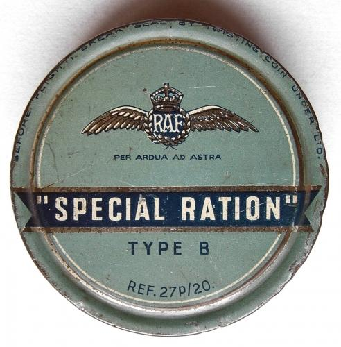 RAF Special Ration Type B, Tin