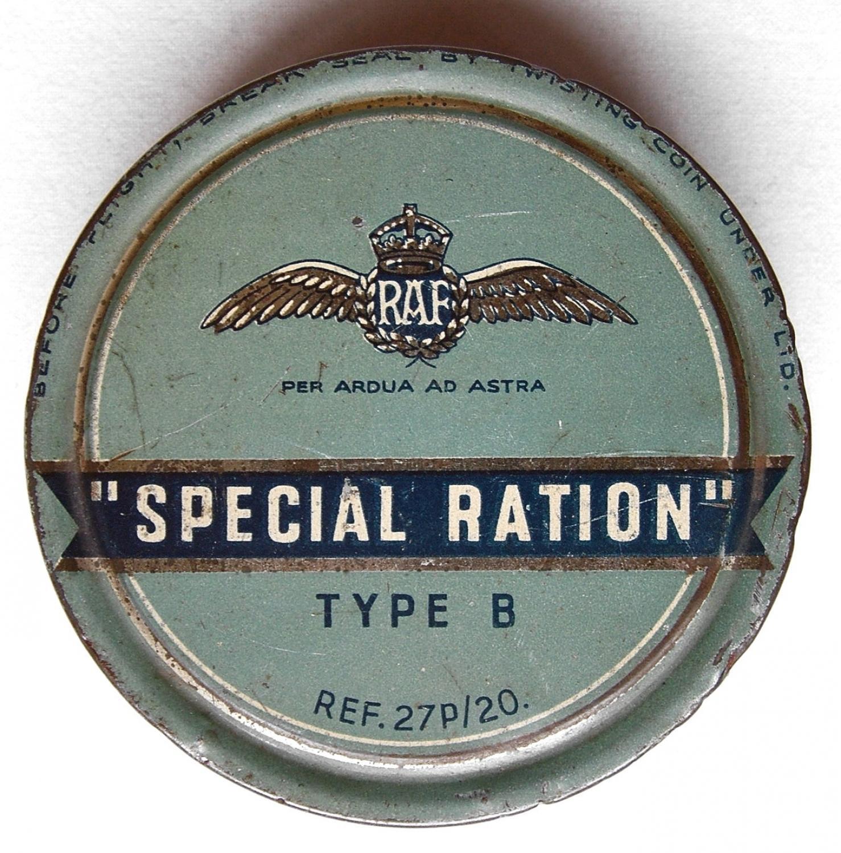 RAF Special Ration Type B, Tin