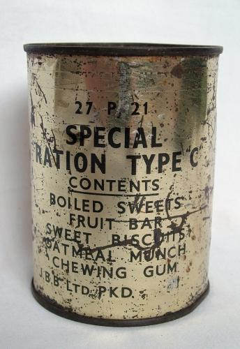 RAF Special Ration Type C, Sealed, History