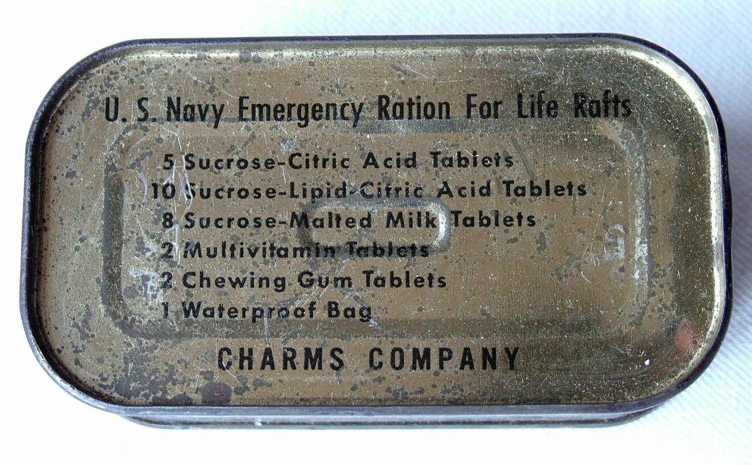 USN Emergency ration For Lifeboats - Sealed