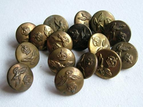 RAF King's Crown Uniform Buttons