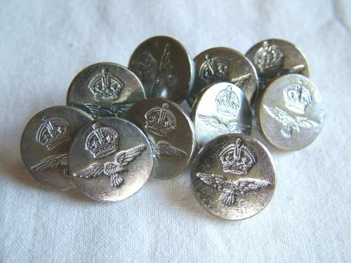 RAF King's Crown Blazer Buttons - Small