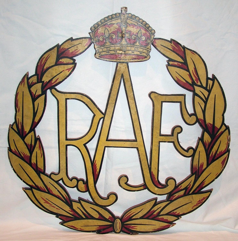 RAF Wooden Sign / Crest