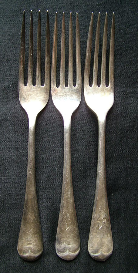 RAF Station Mess Forks - Early Pattern