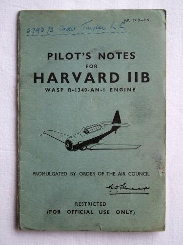 RAF Pilot's Notes : Harvard IIB