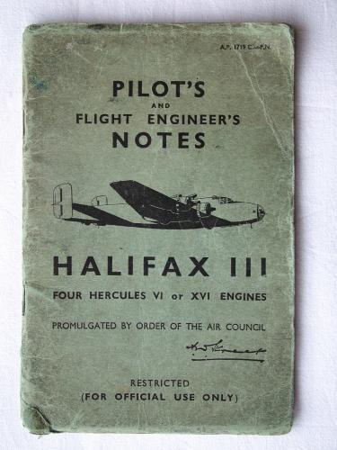 RAF Pilot's Notes : Halifax III