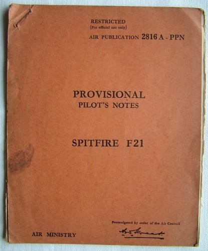 RAF Provisional Pilot's Notes : Spitfire F21