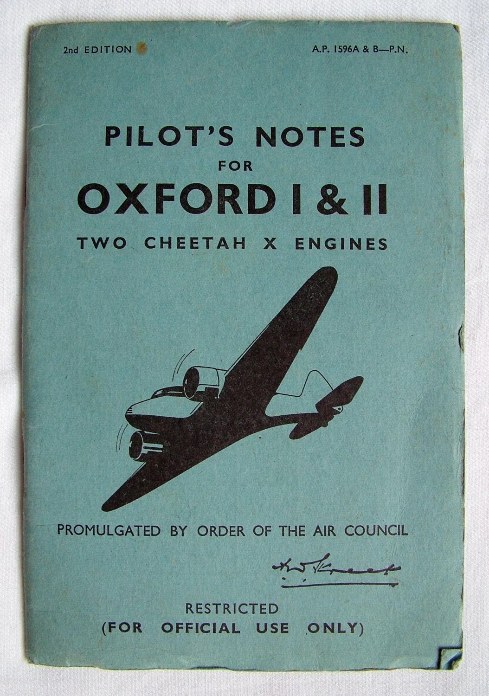 RAF Pilot's Notes : Oxford I & II