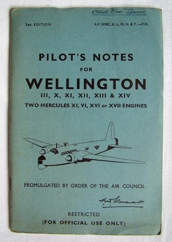 RAF Pilot's Notes : Wellington III, X - IX