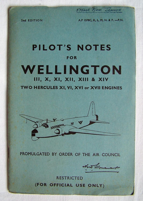 RAF Pilot's Notes : Wellington III, X - IX