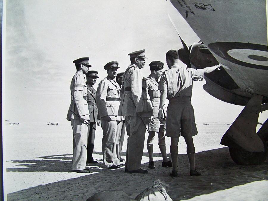RAF Press Photo - Hurricane Inspection