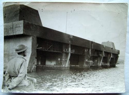 RAF Press Photo - Bomb Damage, Brest