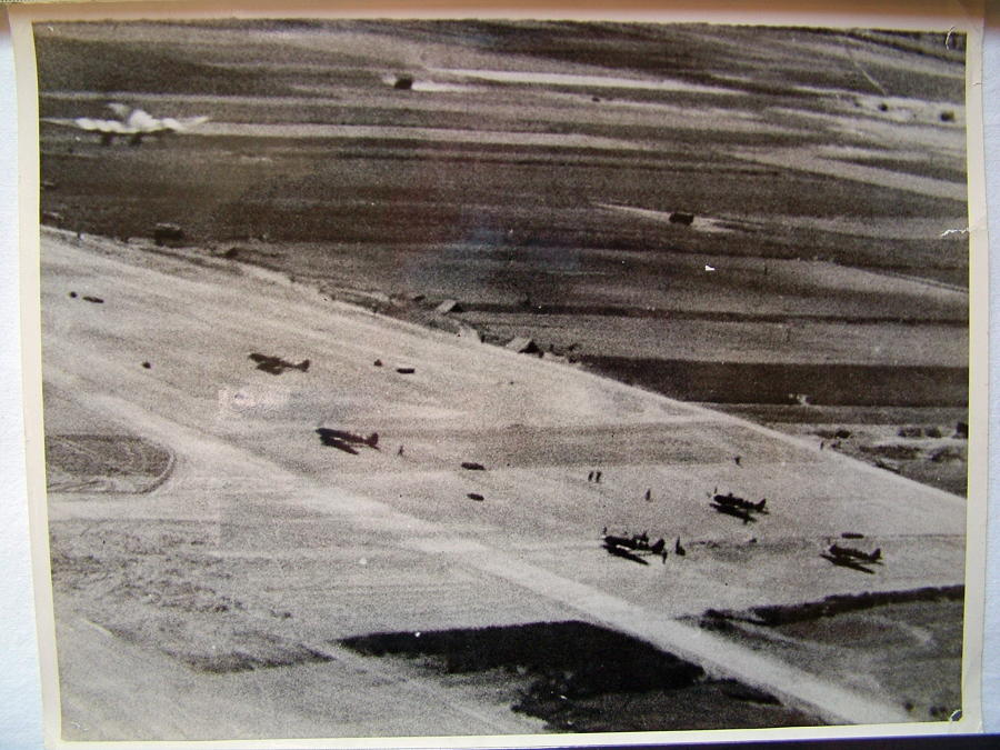 RAF Press Photo - 1944 Air Strip, France