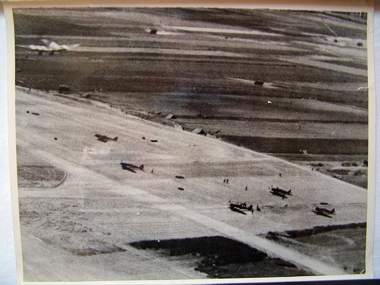 RAF Press Photo - 1944 Air Strip, France