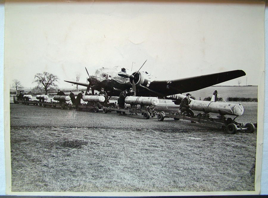 RAF Press Photos - Hampden Bomb Load