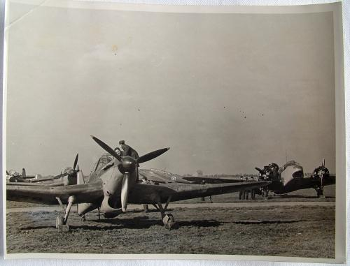 RAF Press Photo - Eagle Squadron. FTS 1940