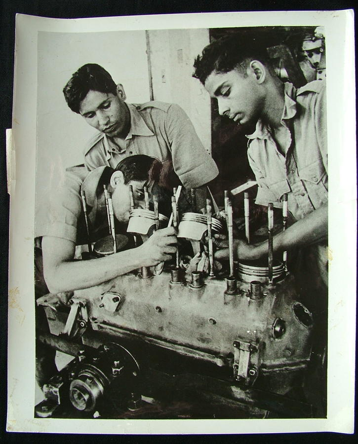 RAF Press Photo - Indian Air Force Students