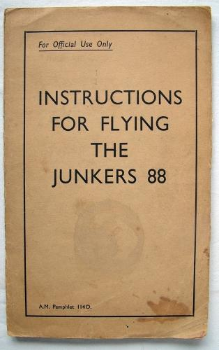 RAF  Flying Instructions - Ju88