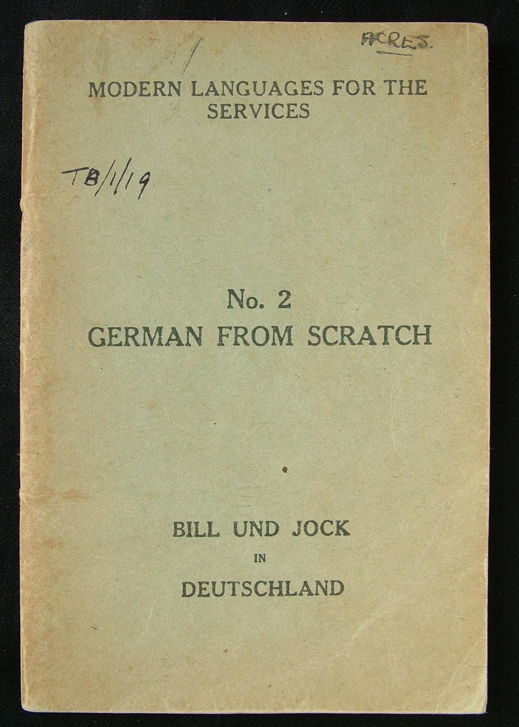 RAF Issued - German From Scratch