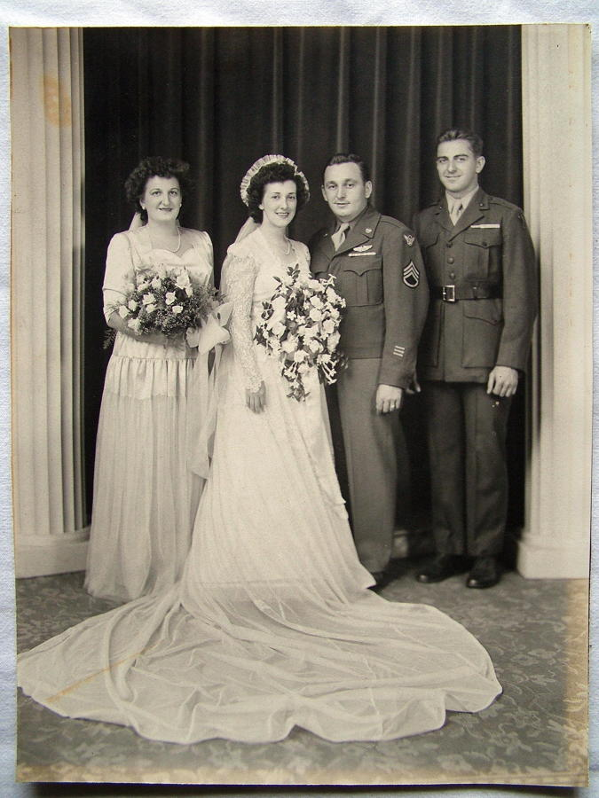 USAAF 8th AF Wedding Photograph