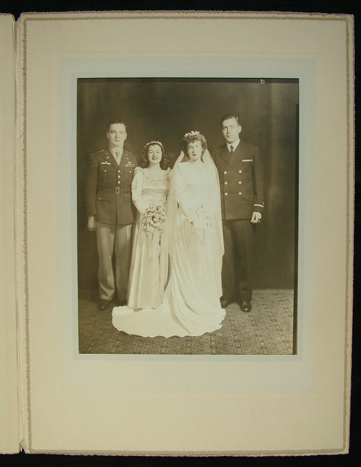 Wedding Photo, USAAF / RAF Pilot