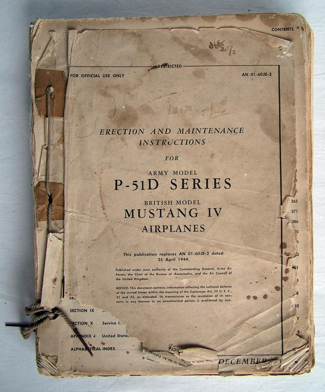 USAAF 'Mustang' IV Maintenance Manual