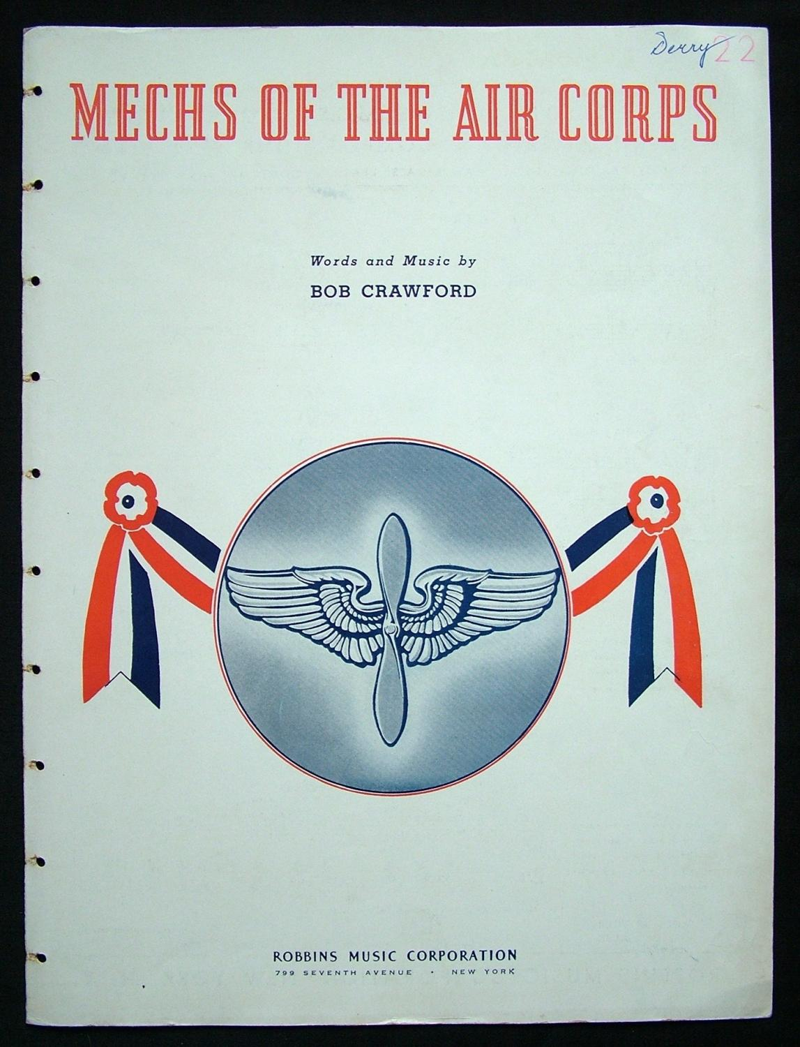 Sheet Music- Mechs Of The Air Corps