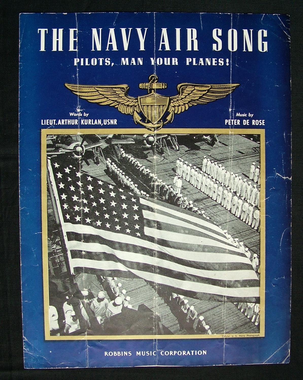 Sheet Music - The Navy Air Song