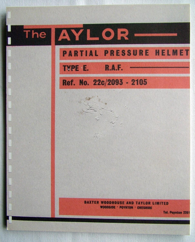 RAF Type E Partial Pressure Helmet Manual