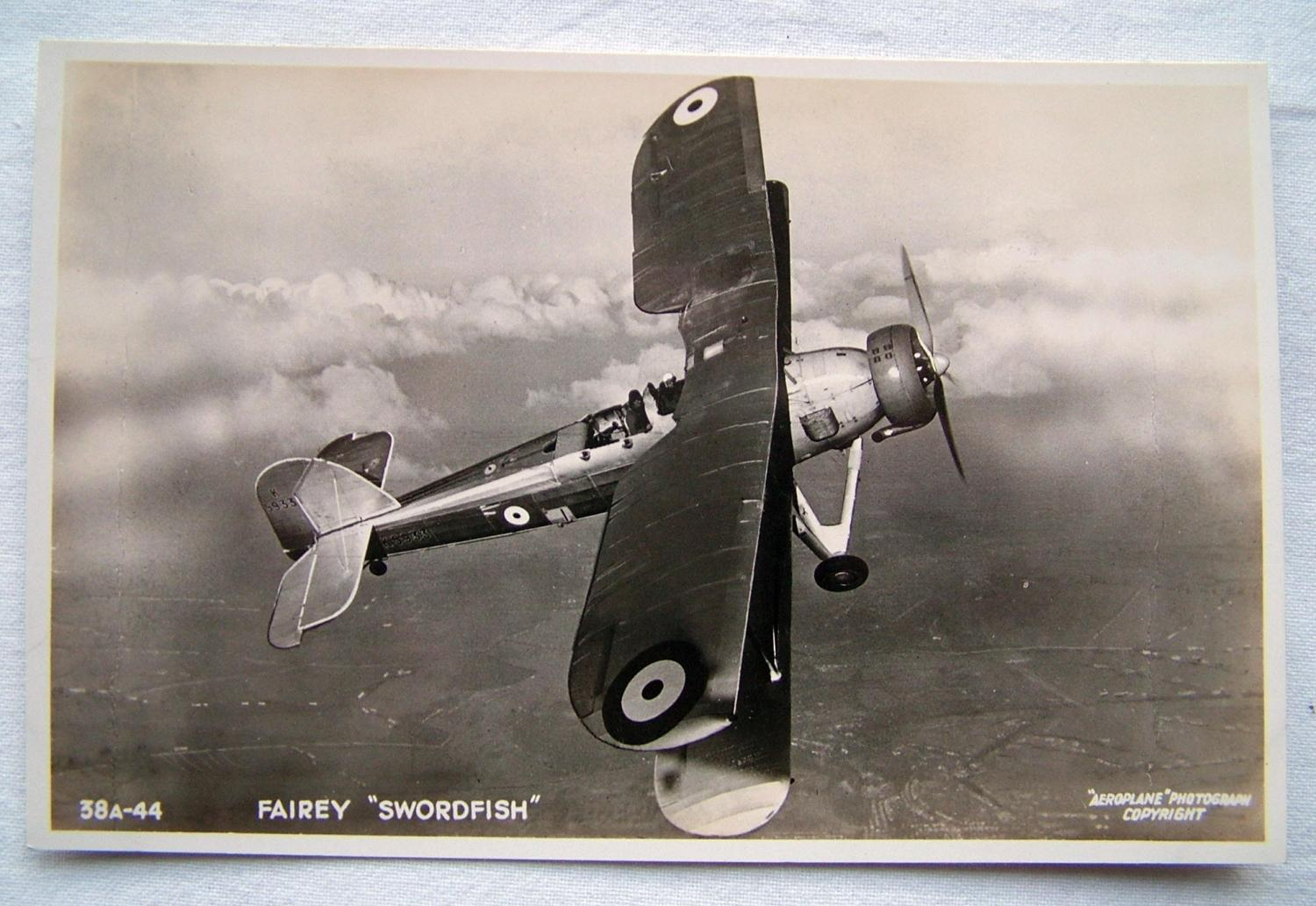 WW2 Postcard  -  Fairey Swordfish