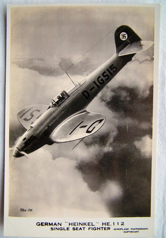 WW2 Postcard  - Heinkel He112 Fighter