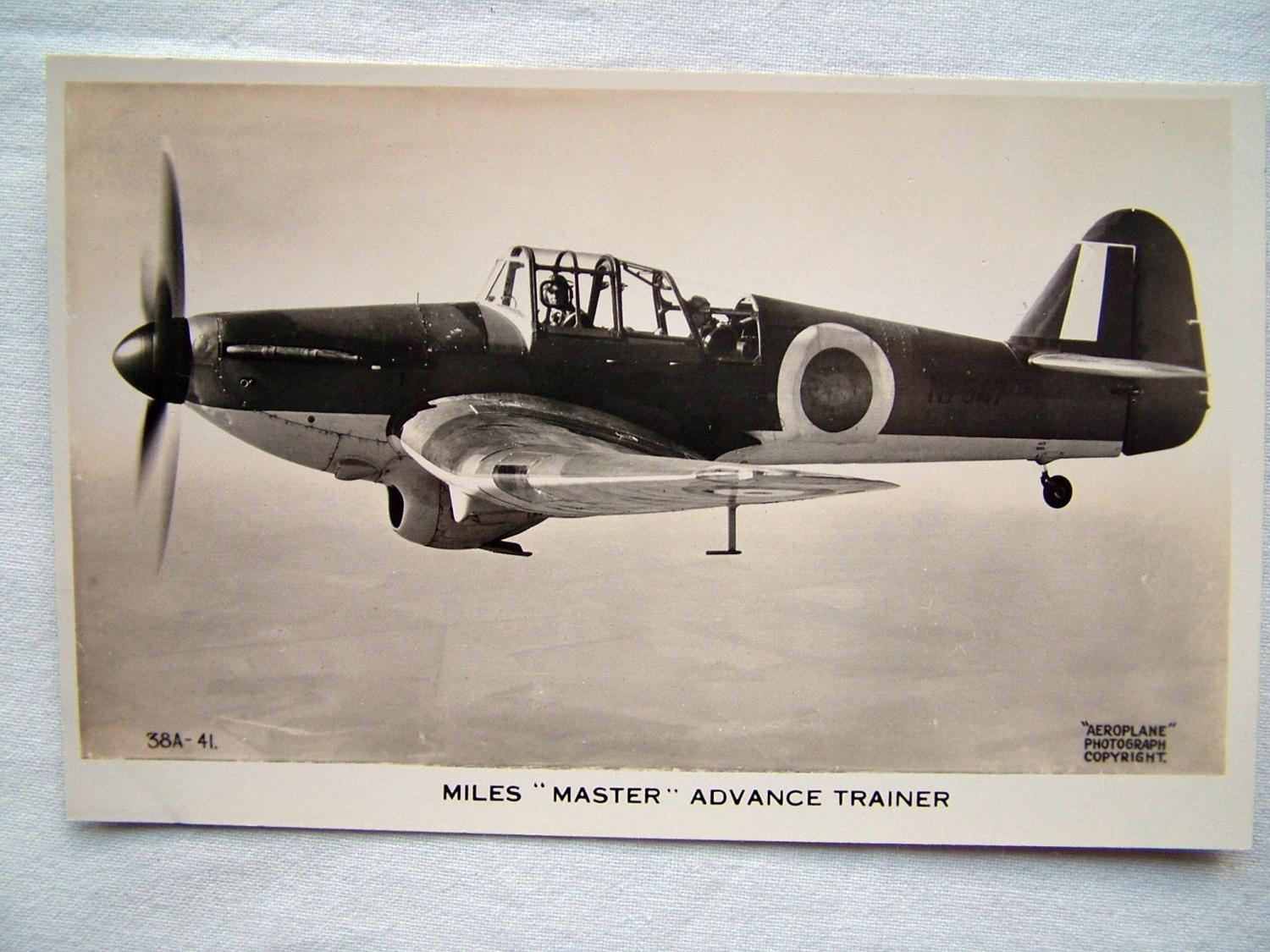 WW2 Postcard  - Miles Master Trainer