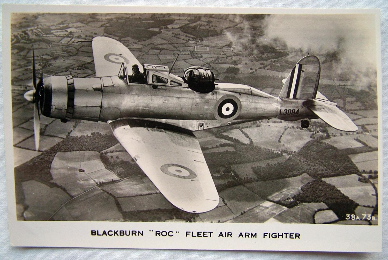 WW2 Postcard  - F.A.A. Blackburn 'Roc'