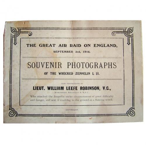 WW1 Zeppelin Souvenir Photo Booklet