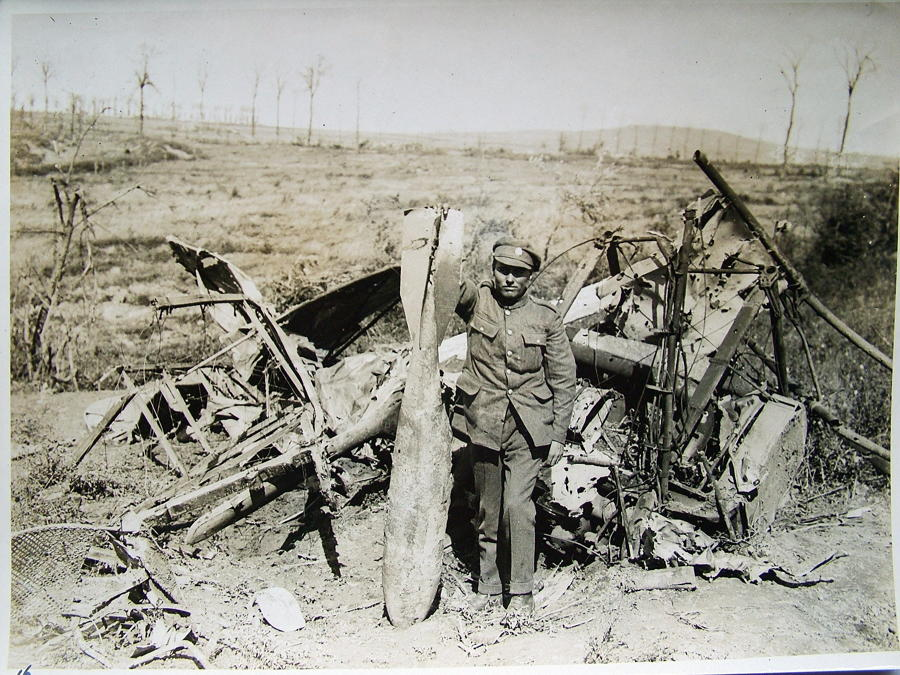 Press Photo - Crashed German Aircraft