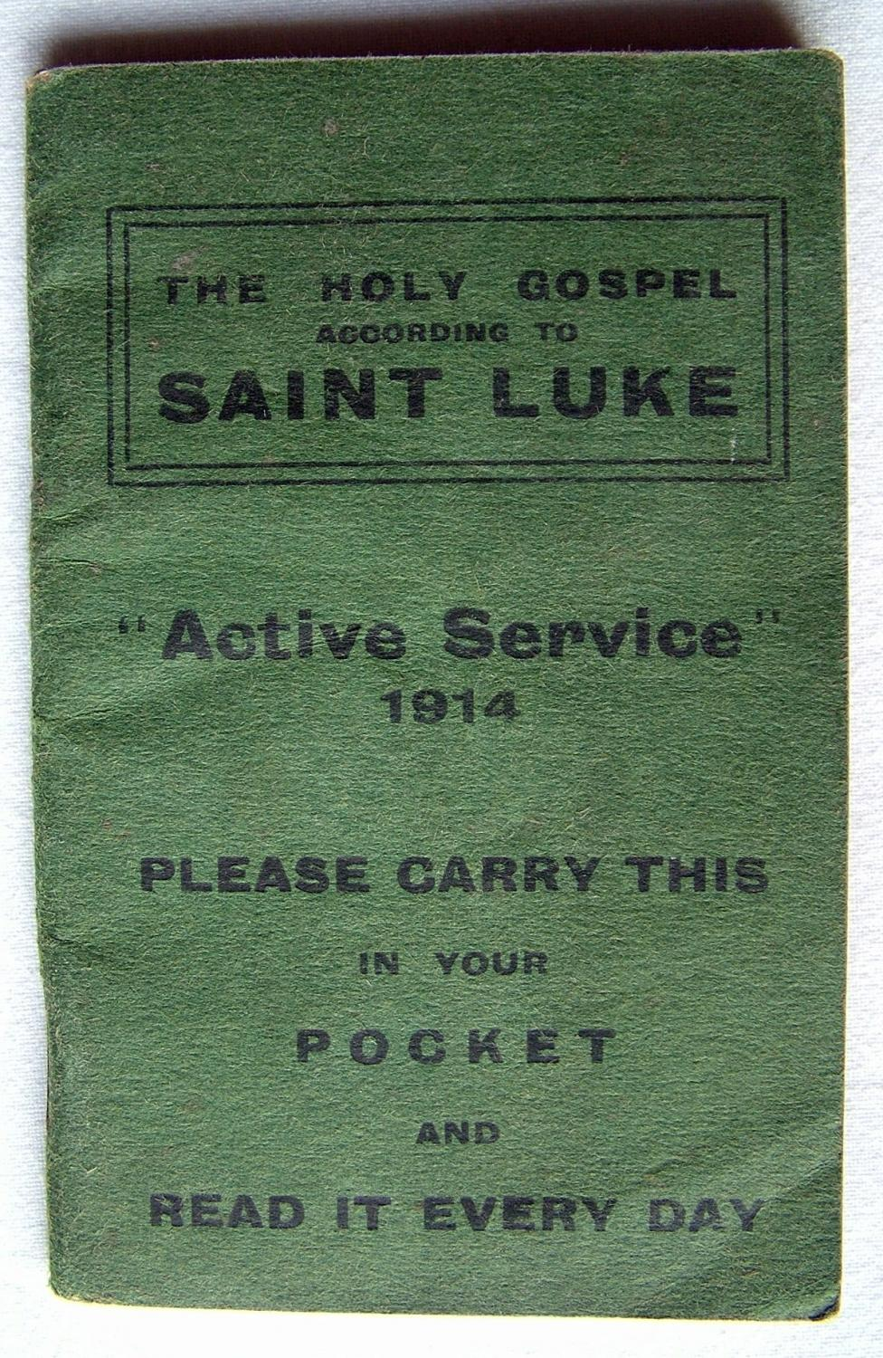 WW1 'Period' RFC Holy Gospel