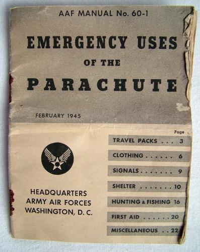 USAAF Emergency Uses Parachute Booklet