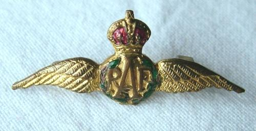 RAF Sweetheart Pilot Wing Brooch