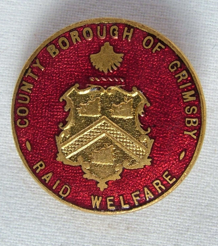 WW2 Grimsby Air Raid Welfare Badge, V2