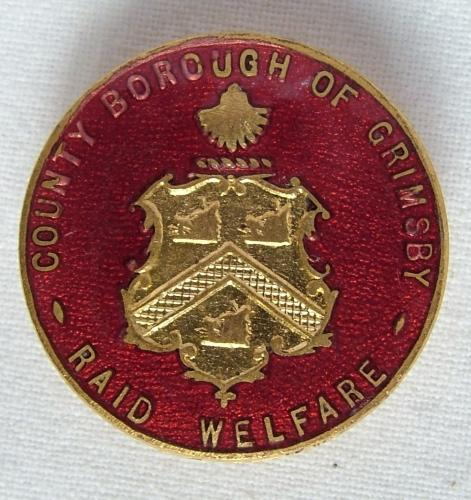 WW2 Grimsby Air Raid Welfare Badge, V1