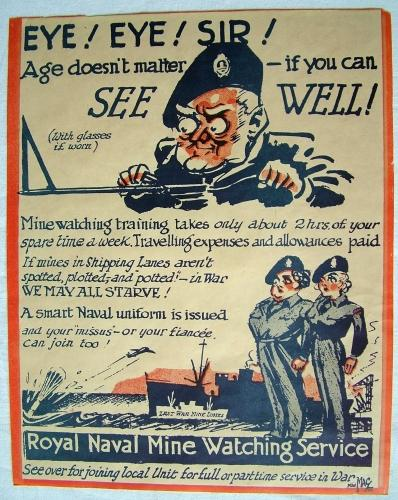 Royal Navy Mine Watching Service Poster